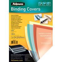 Fellowes Transparante PVC dekbladen - 200 micron, A4, blauw (5377101)