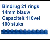 Fellowes bindruggen, pak van 100 stuks, 14 mm, blauw