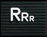Aanvullende letterset - Hoogte 12 mm