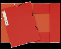 exacompta Elastomap Forever 2-kleurig karton A4. 380 g/m². rood/oranje (pak 25 stuks)