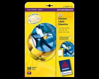 avery Etiket  C9660-25 CD hoog glans 50stuks