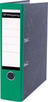Pergamy ordner, voor ft A4, uit karton, rug van 8 cm, gewolkt groen