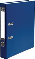 Pergamy ordner, voor ft A4, uit PP en papier, rug van 5 cm, donkerblauw