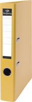 Pergamy ordner, voor ft A4, uit PP en papier, rug van 5 cm, geel