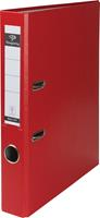 Pergamy ordner, voor ft A4, uit PP en papier, rug van 5 cm, rood