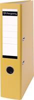 Pergamy ordner, voor ft A4, uit PP en papier, rug van 7,5 cm, geel
