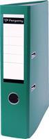 Pergamy ordner, voor ft A4, uit PP en papier, rug van 7,5 cm, groen