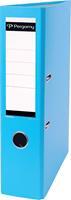 Pergamy ordner, voor ft A4, uit PP en papier, rug van 7,5 cm, turkoois