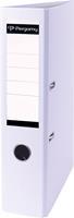 Pergamy ordner, voor ft A4, uit PP en papier, rug van 7,5 cm, wit