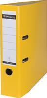 Pergamy ordner, voor ft A4, uit PP en papier, rug van 8 cm, geel