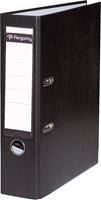 Pergamy ordner, voor ft A4, uit PP en papier, rug van 8 cm, zwart