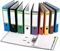 Pergamy ordner, voor ft A4, uit Recycolor papier, rug van 8 cm, geassorteerde kleuren