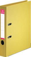 Pergamy ordner, voor ft A4, volledig uit PP, rug van 5 cm, geel