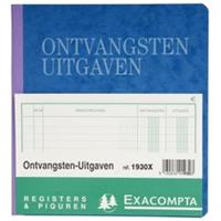 Exacompta ontvangsten en uitgaven, ft 21 x 19 cm, Nederlandstalig