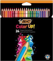 Bic kleurpotloden Color Up, ophangdoos met 24 stuks in geassorteerde kleuren