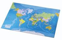 Onderlegger  40x53cm met wereldkaart Engels