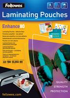 Fellowes lamineerhoes Enhance80 zelfklevend ft A3, 160 micron (2 x 80 micron), pak van 100 stuks