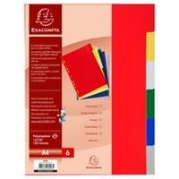 Exacompta Chromaline PP Tabbladen - 6 tabs - A4