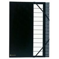 Exacompta sorteermap Ordonator met harde kaft, numeriek, uitrekbare rug, 32 vakken, zwart