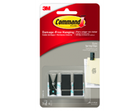 Command Bevestigingsstrip  3M 17089S 3 springclips zwart