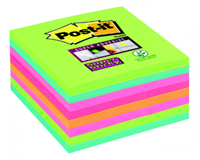 3M Memoblok  654-SSRB Super Sticky 76x76mm rainbow