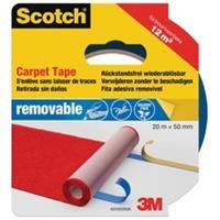 Scotch tapijttape, verwijderbaar, 50 mm, rol van 20 m