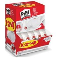 Pritt Correctieroller  4.2mmx10m eco flex valuepack à 12+4 gratis