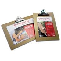 Pergamy klemplaat, voor ft A4, uit hardboard karton, bruin