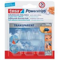 Tesa Powerstrips met haakje 5 stuks transparant