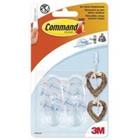 Command Bevestigingsstrip  3M 17091CLR 2 ovale haken medium