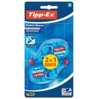 Tipp-Ex correctieroller Pocket Mouse, blister met 2 + 1 gratis