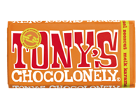 Tony'schocolonely Chocolade  reep 180gr melk karamel zeezout