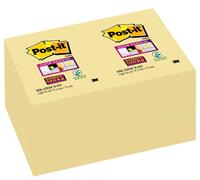 Post-it Super Sticky notes, ft 47,6 x 76 mm, geel, 90 vel, pak van 12 blokken