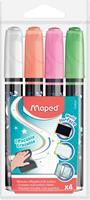 Maped krijtmarker, etui met 4 stuks in geassorteerde kleuren