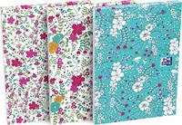 Oxford Floral softcover notitieblok, ft A6, 80 vel, gelijnd, 3 geassorteerde designs