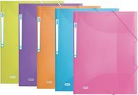 Elba Urban elastomap, voor ft A4, uit PP, geassorteerde transparante kleuren