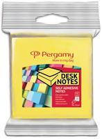 Pergamy notes, ft 76 x 76 mm, pak van 2, neon geel en neon groen