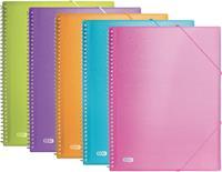 Elba Urban showalbum met spiraal, voor ft A4, 40 tassen, met elastiek, geassorteerde transparante kleuren