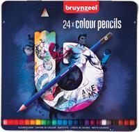 Kleurpotloden MXZ Blik 24 Stuks Donker