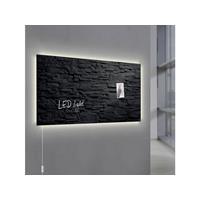 Glasmagneetbord  Artverum LED 910x460x15 leisteen