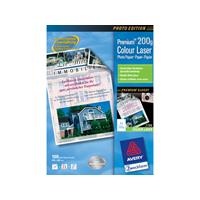 Avery Zweckform Avery Premium Colour Laser Photo Paper 200 g/m² Wit papier voor inkjetprinter
