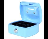 Pavo Geldkist  met gleuf 125x95x60mm lichtblauw