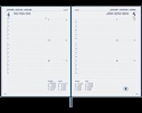 Agenda 2019 Ryam Efficiency kort 7dag/2pagina's bordeaux