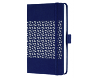 Notitieboek Sigel Jolie Impress A5 lijn 174blz 80gr midnight blue