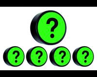 Smitvisual Magneet vraagteken 35mm groen