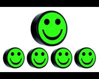 Smitvisual Magneet smiley 35mm groen