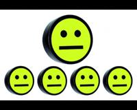 Smitvisual Magneet smiley 35mm geel