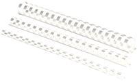 Fellowes bindruggen, pak van 50 stuks, 25 mm, wit