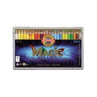 Koh-i-noor Kleurpotloden  Jumbo Magic doos 24 kleuren