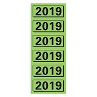 elba Rugetiket  2019 57x25mm groen